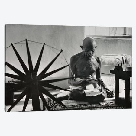 Mahatma Gandhi Canvas Print #3642} by Unknown Artist Canvas Print
