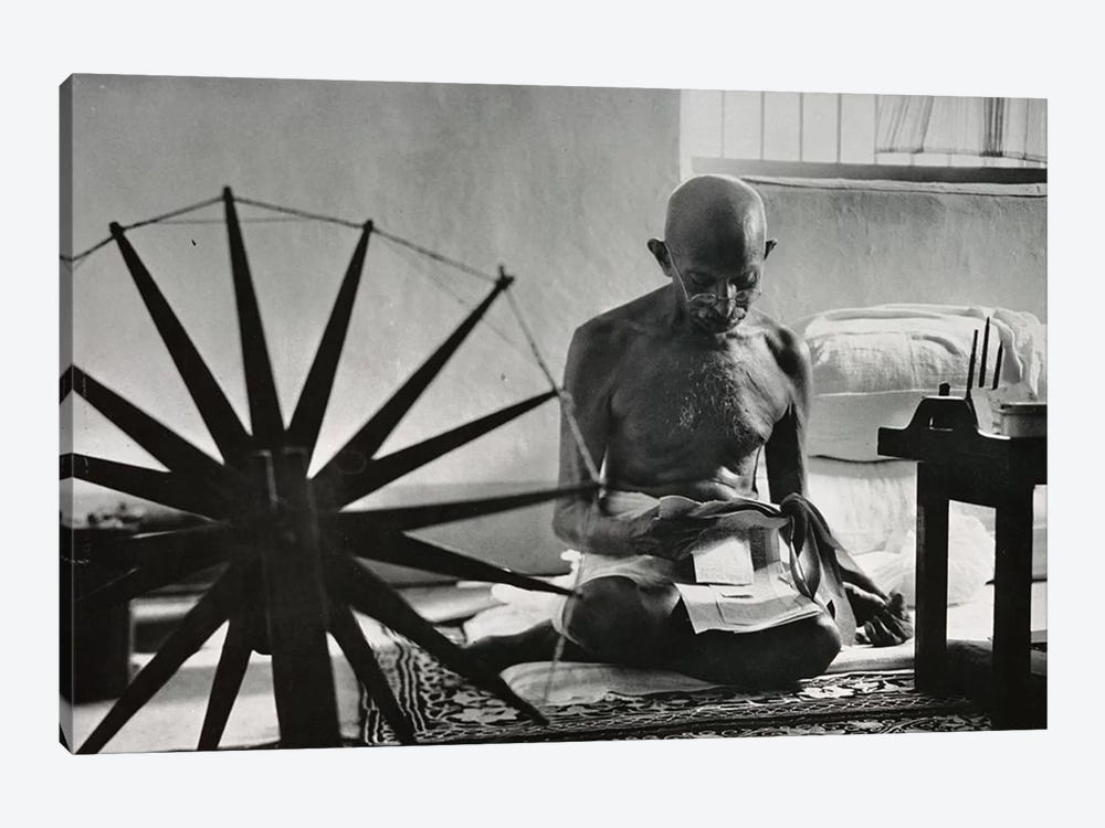 Mahatma Gandhi 1-piece Canvas Art