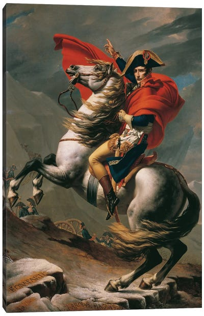 Napoleon Crossing The Alps Canvas Art Print