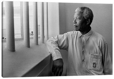 Nelson Mandela Portrait Canvas Print #3650