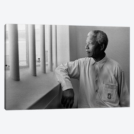 Nelson Mandela Portrait Canvas Print #3650} by Unknown Artist Canvas Artwork