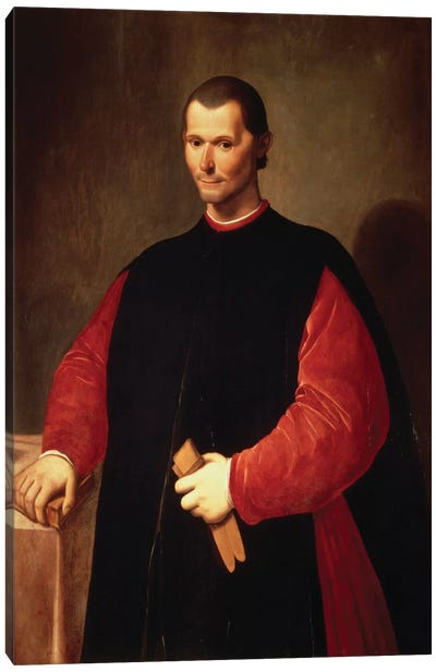 Niccolo Machiavelli Portrait Canvas Art Print