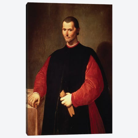 Niccolo Machiavelli Portrait Canvas Print #3651} by Unknown Artist Canvas Artwork