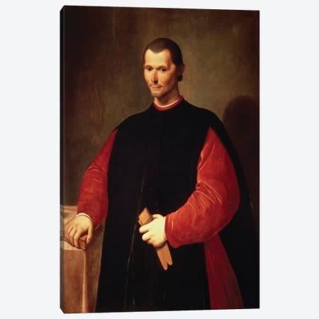 Niccolo Machiavelli Portrait Canvas Print #3651} by Unknown Artist Canvas Artwork