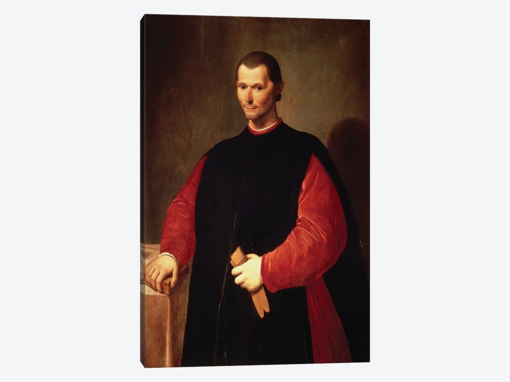 Niccolo Machiavelli Portrait by Unknown Artist 1-piece Canvas Artwork