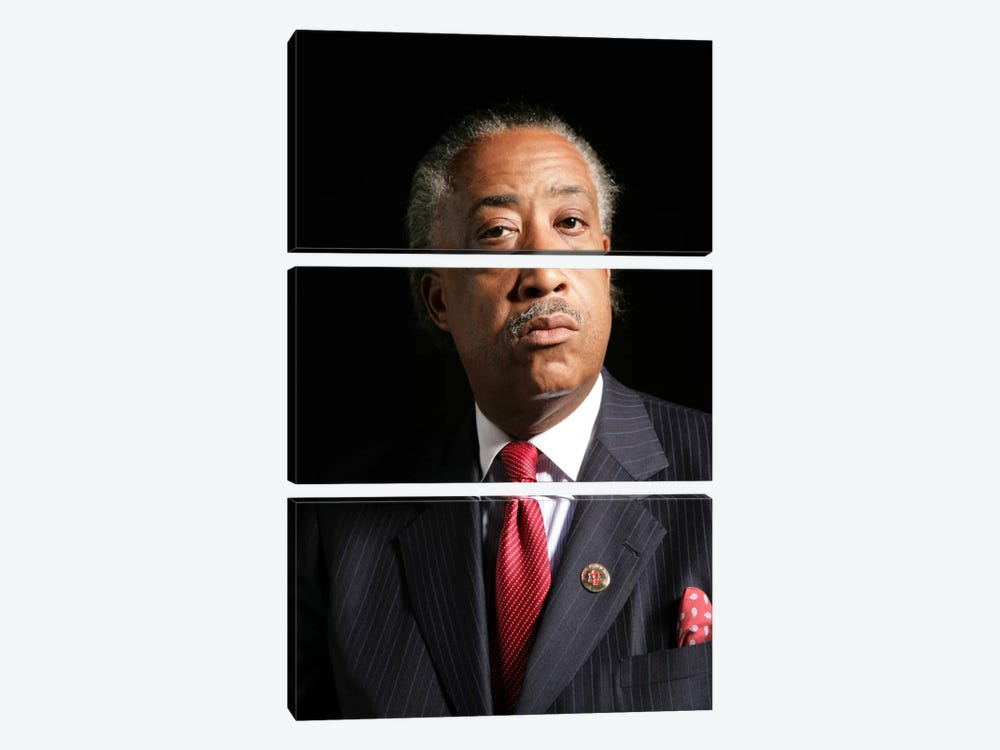 Reverend Al Sharpton 3-piece Canvas Art