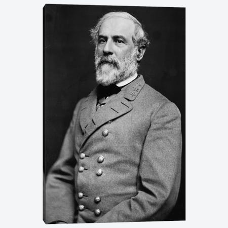 General Robert E. Lee Canvas Print #3658} by Unknown Artist Canvas Artwork