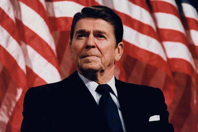 Ronald Reagan Portrait Canvas Art Print By Unknown Artist Icanvas