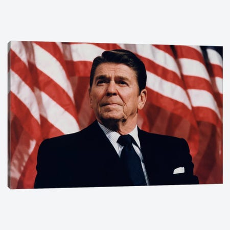 Ronald Reagan Portrait Canvas Print #3659} Canvas Wall Art