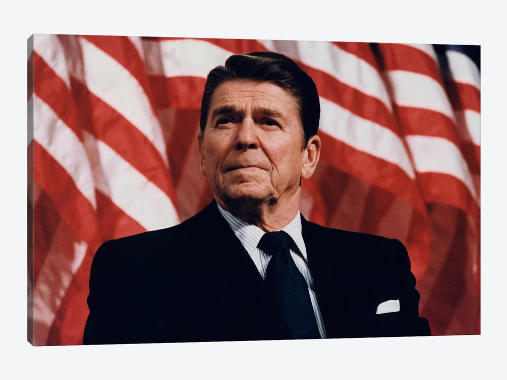 Ronald Reagan Portrait 1-piece Canvas Art