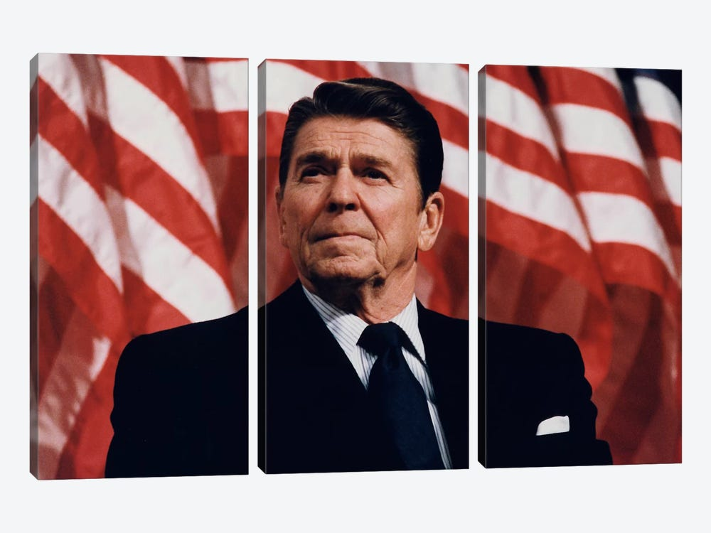 Ronald Reagan Portrait 3-piece Canvas Artwork