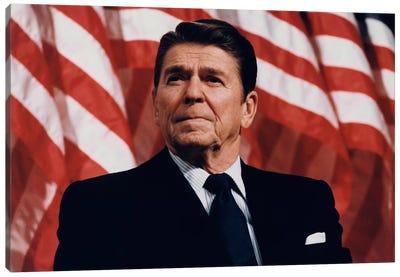Ronald Reagan Portrait Canvas Art Print