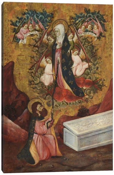 Saint Thomas Aquinas Receives The Sacred Belt From Virgin Mary Canvas Print #3663