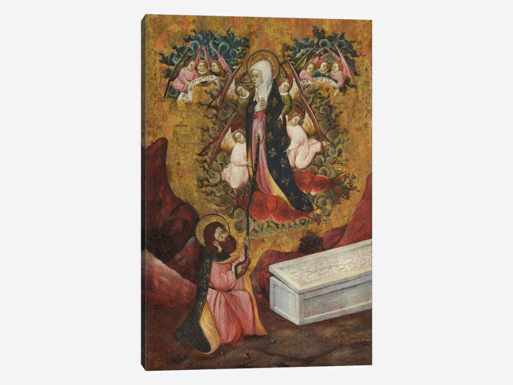 Saint Thomas Aquinas Receives The Sacred Belt From Virgin Mary by Unknown Artist 1-piece Canvas Art Print
