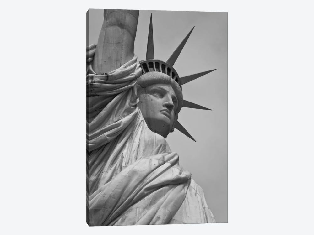 Statue of Liberty Black & White by Unknown Artist 1-piece Canvas Artwork
