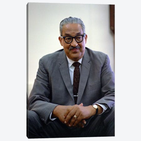 Thurgood Marshall Portrait Canvas Print #3671} by Unknown Artist Canvas Wall Art