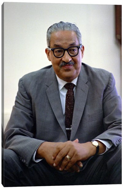 Thurgood Marshall Portrait Canvas Art Print