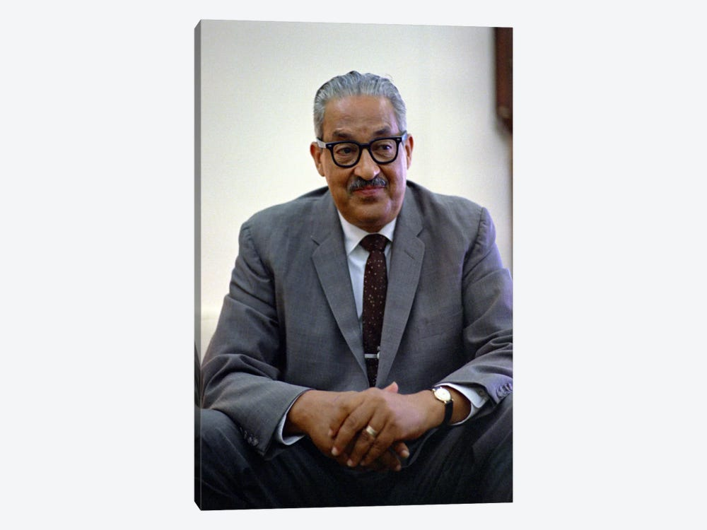 Thurgood Marshall Portrait 1-piece Canvas Wall Art
