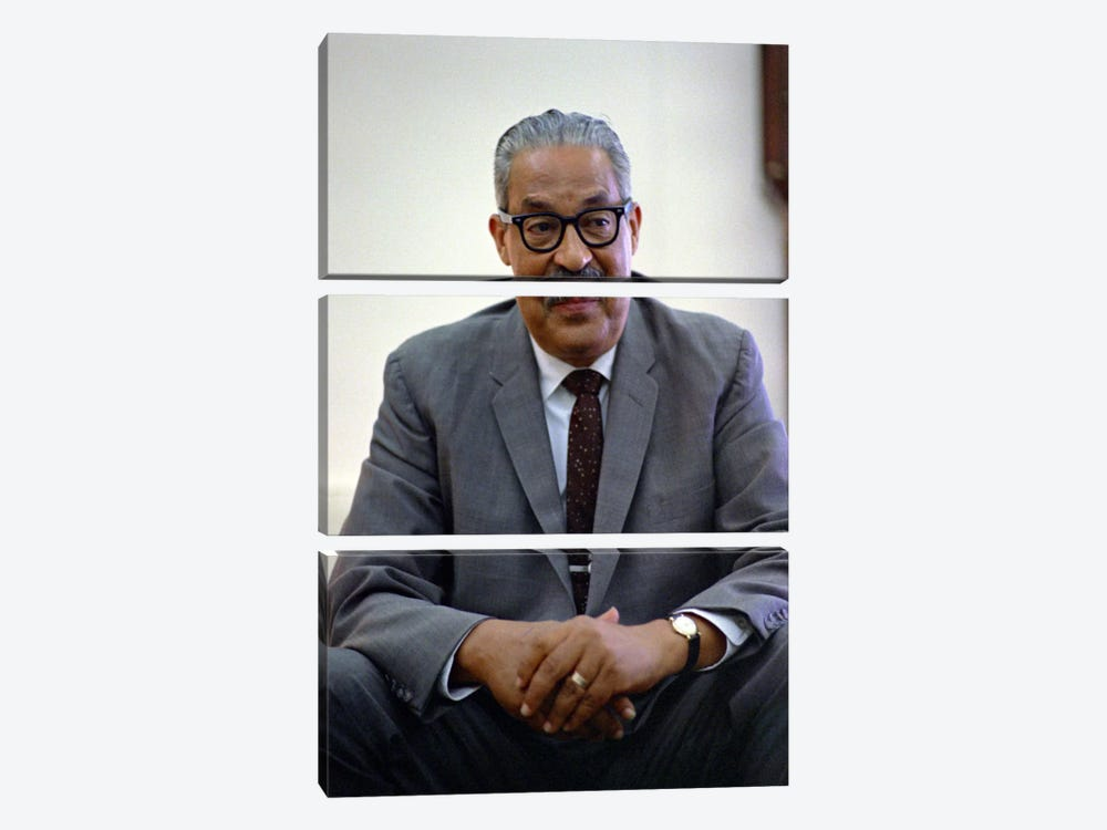 Thurgood Marshall Portrait 3-piece Canvas Art