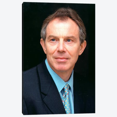 Tony Blair Portrait Canvas Print #3673} by Unknown Artist Canvas Artwork