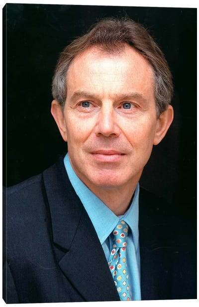 Tony Blair Portrait Canvas Art Print