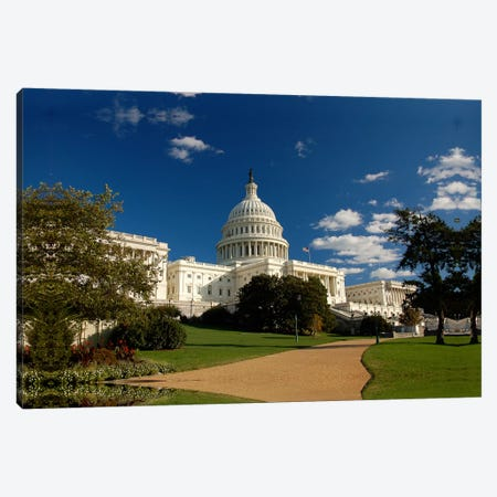 Capitol Building Canvas Print #3675} by Unknown Artist Canvas Art Print