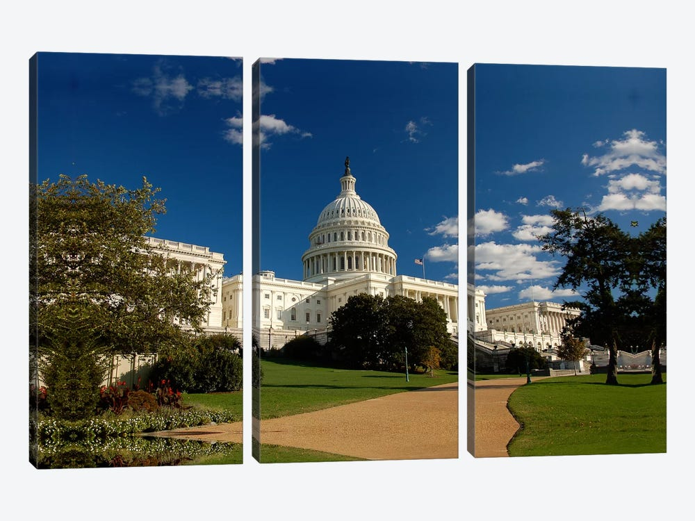Capitol Building 3-piece Canvas Wall Art
