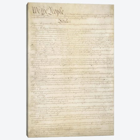 The Constitution Document Canvas Print #3676} by Unknown Artist Canvas Print