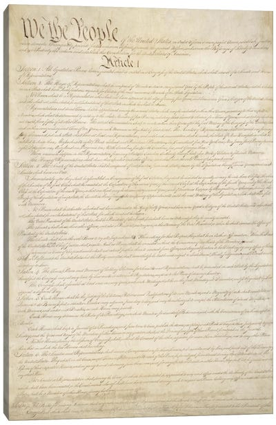 The Constitution Document Canvas Art Print