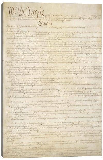 The Constitution Document Canvas Art Print