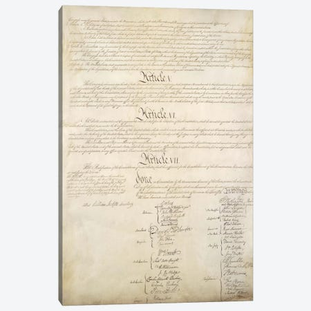 The Constitution Document Signatures Canvas Print #3677} by Unknown Artist Canvas Art Print