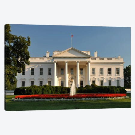 The White House Canvas Print #3681} by Unknown Artist Canvas Print