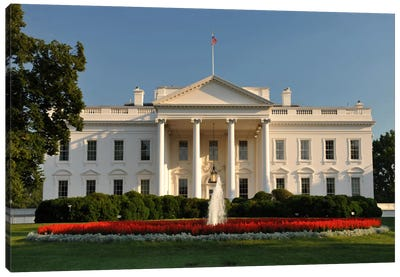 The White House Canvas Art Print