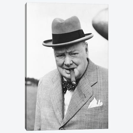Winston Churchill Portrait Canvas Print #3683} by Unknown Artist Art Print