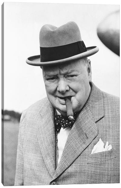 Winston Churchill Portrait Canvas Art Print