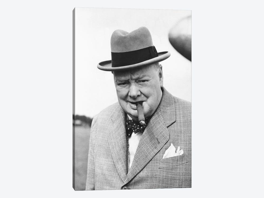 Winston Churchill Portrait by Unknown Artist 1-piece Canvas Print