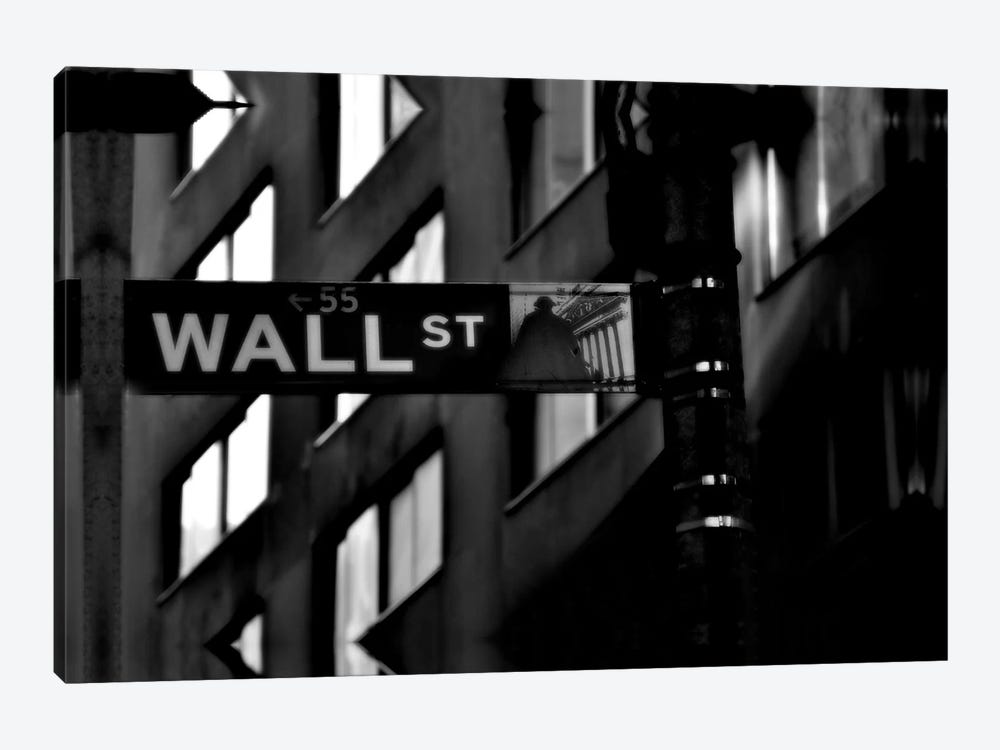 Wall Street Sign by Unknown Artist 1-piece Canvas Print