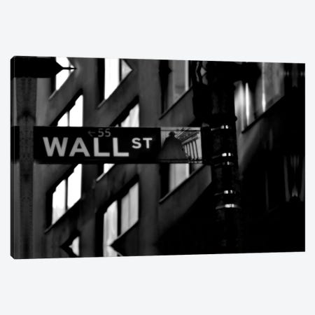 Wall Street Sign Canvas Print #3685} by Unknown Artist Canvas Art