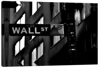Wall Street Sign Canvas Art Print