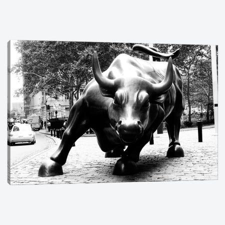 Wall Street Bull Black & White Canvas Print #3686} by Unknown Artist Canvas Wall Art