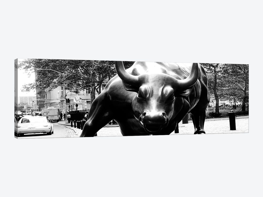 Wall Street Bull Art wall street bull close-up canvas art print | icanvas