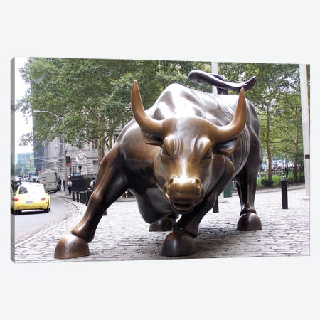 The Wall Street Bull Canvas Print #3687} by Unknown Artist Canvas Artwork