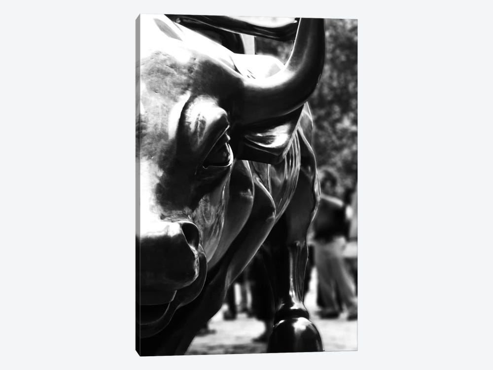 Wall Street Bull Close-up  by Unknown Artist 1-piece Canvas Artwork