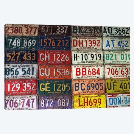 State License Plates Canvas Print #36} Art Print