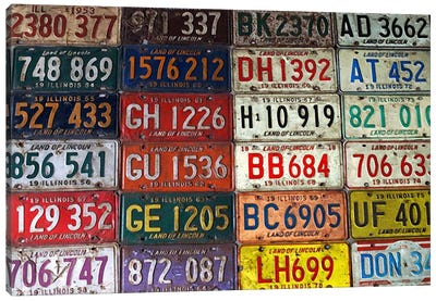 State License Plates Canvas Art Print