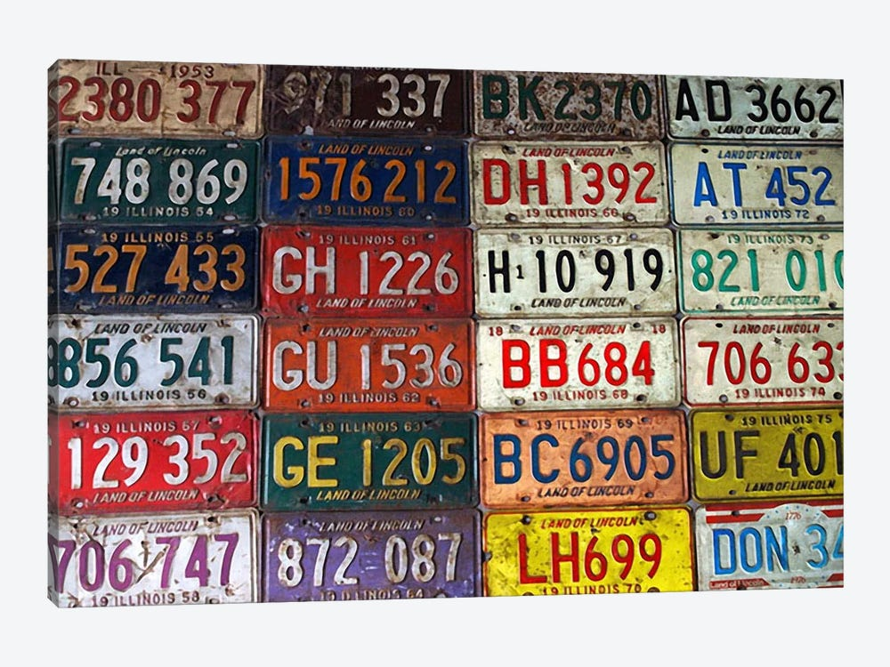 State License Plates by Unknown Artist 1-piece Canvas Print