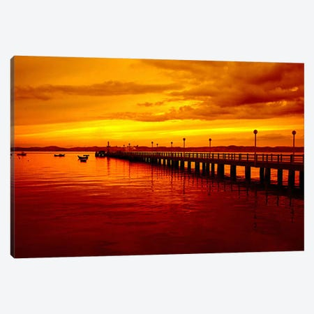 Sunset At The Pier Canvas Print #39} by Unknown Artist Canvas Artwork