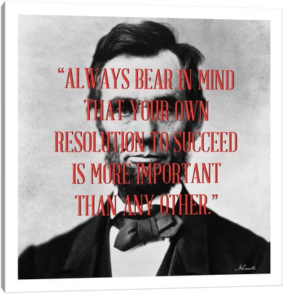 Abraham Lincoln Quote Canvas Art Print