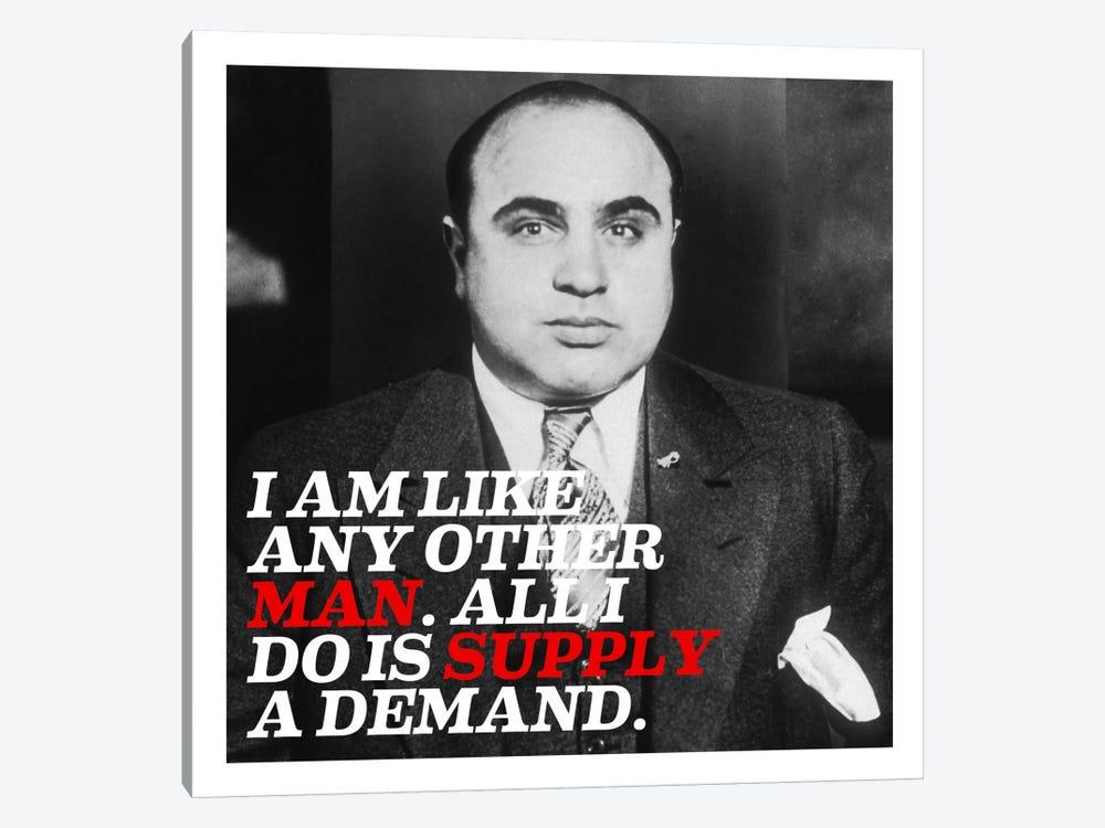 Al Capone Quote by Unknown Artist 1-piece Canvas Art