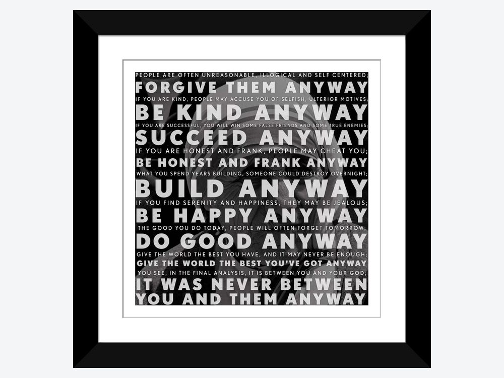 Mother Teresa Quote Art Print By Icanvas Icanvas
